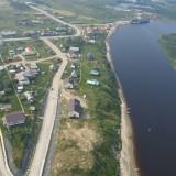 Поселок Кутопьюган. Вид с вертолета